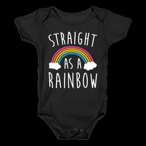 Straight As A Rainbow Baby Onesy