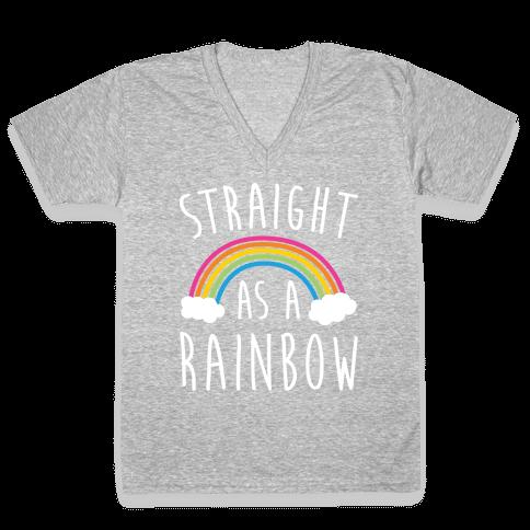 Straight As A Rainbow V-Neck Tee Shirt