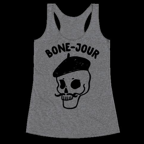Bone-Jour Racerback Tank Top