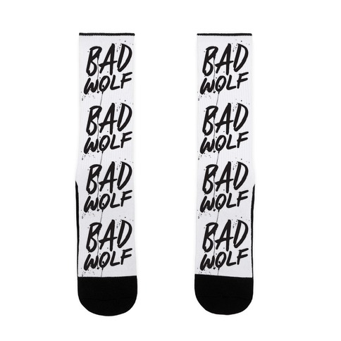 Doctor Who Bad Wolf Sock