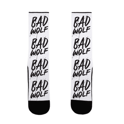 Doctor Who Bad Wolf Sock