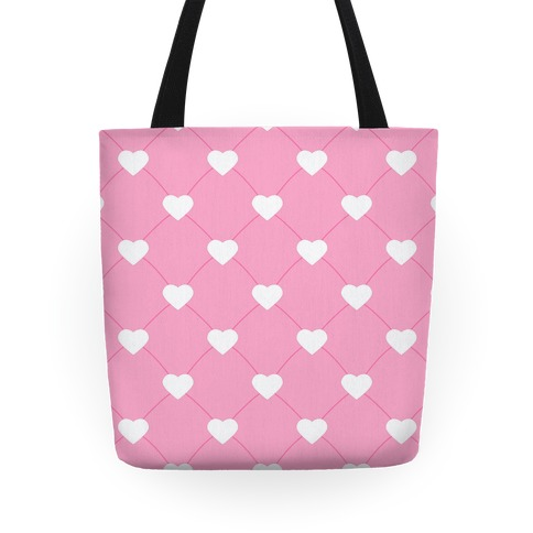 Simple Heart Pattern pink Tote