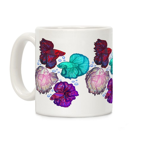 Beta Fish Pattern Coffee Mug