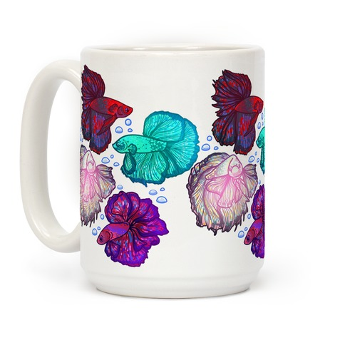 Beta Fish Pattern Coffee Mug