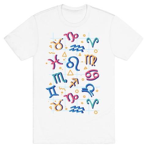 90's Zodiac Pattern T-Shirt