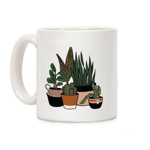 Houseplant Illustration Color Coffee Mug