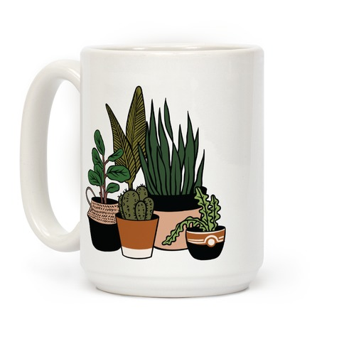 Houseplant Illustration Color Coffee Mug