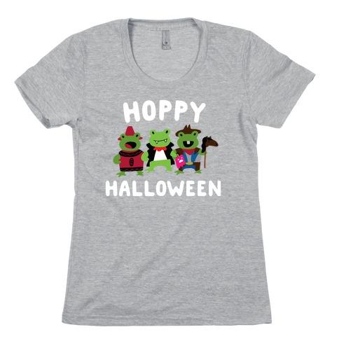 Hoppy Halloween Frogs Womens T-Shirt