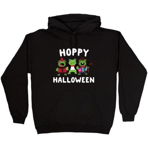 Hoppy Halloween Frogs Hooded Sweatshirt