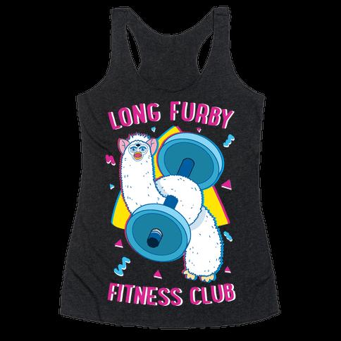 Long Furby Fitness Club Racerback Tank Top