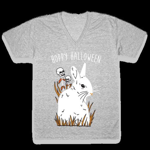 Hoppy Halloween V-Neck Tee Shirt