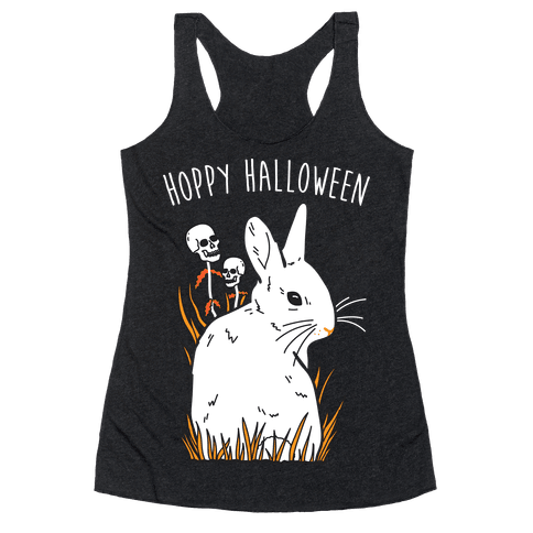 Hoppy Halloween Racerback Tank Top