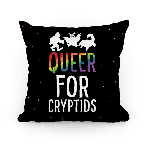 Queer for Cryptids Pillow