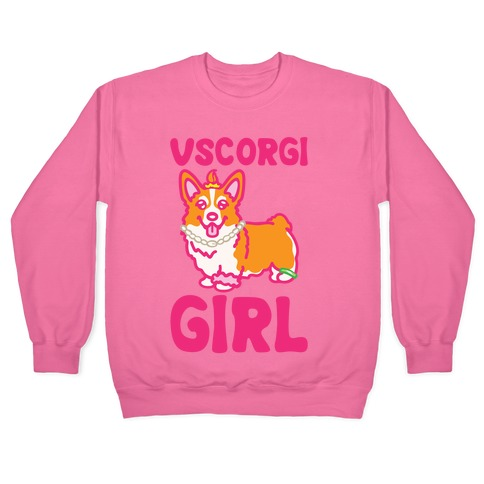 Vscogri Girl Parody White Print Pullover