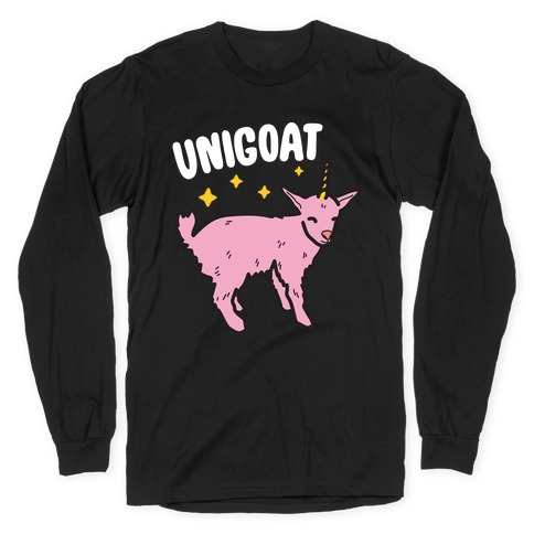 Unigoat Goat Unicorn Long Sleeve T-Shirt
