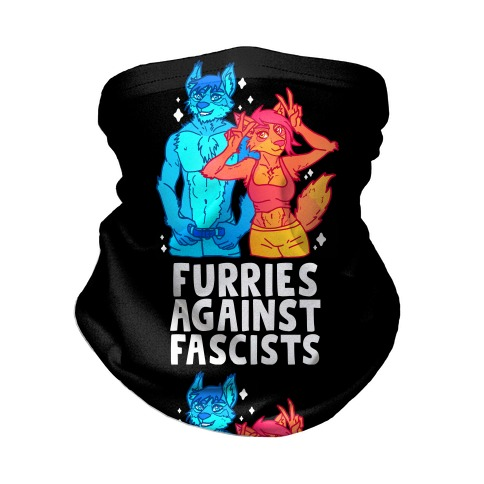 Furries Against Fascists Neck Gaiter