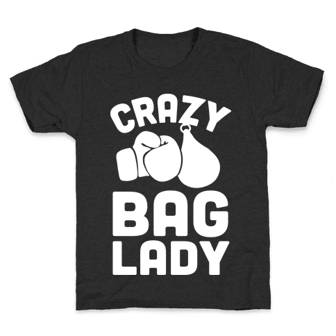 Crazy Bag Lady Kids T-Shirt