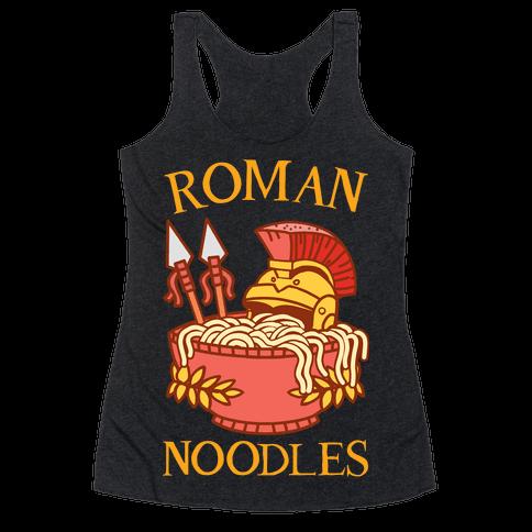 Roman Noodles Racerback Tank Top