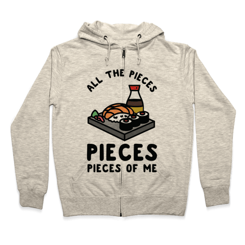 Pieces of Me Sushi Zip Hoodie