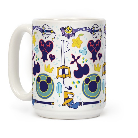 Kingdom Hearts pattern Coffee Mug