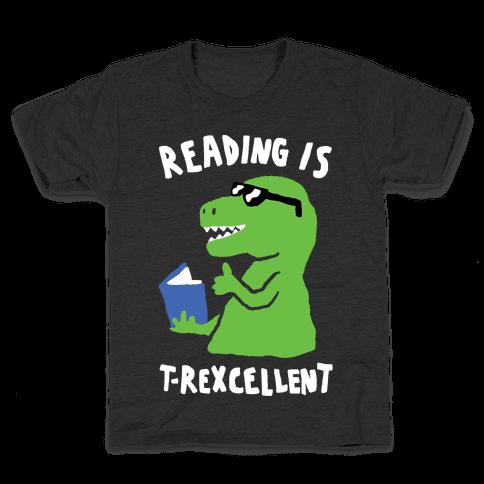 Reading Is T-Rexcellent Dinosaur Kids T-Shirt