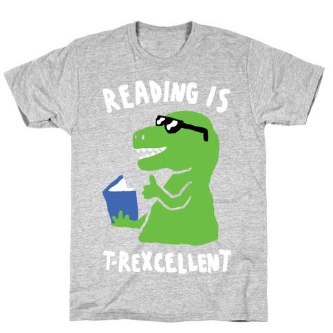 Reading Is T-Rexcellent Dinosaur T-Shirt