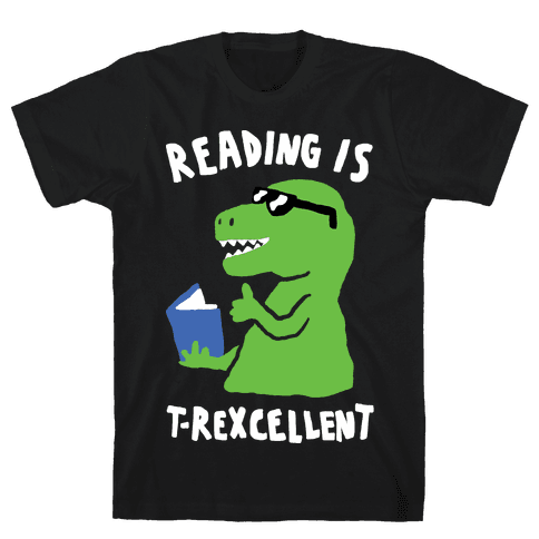 Reading Is T-Rexcellent Dinosaur Mens T-Shirt