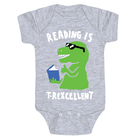 Reading Is T-Rexcellent Dinosaur Baby Onesy