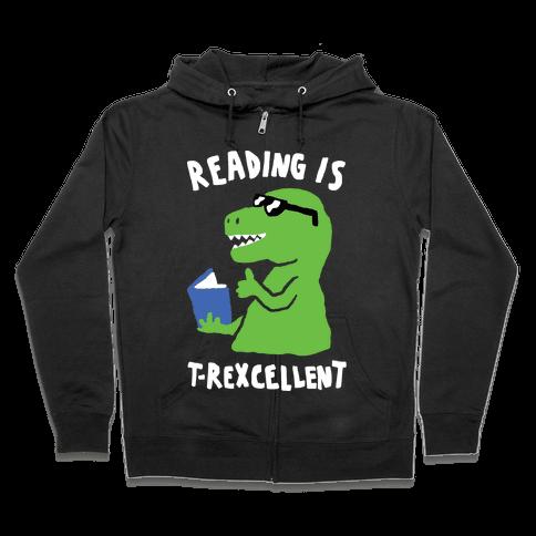 Reading Is T-Rexcellent Dinosaur Zip Hoodie