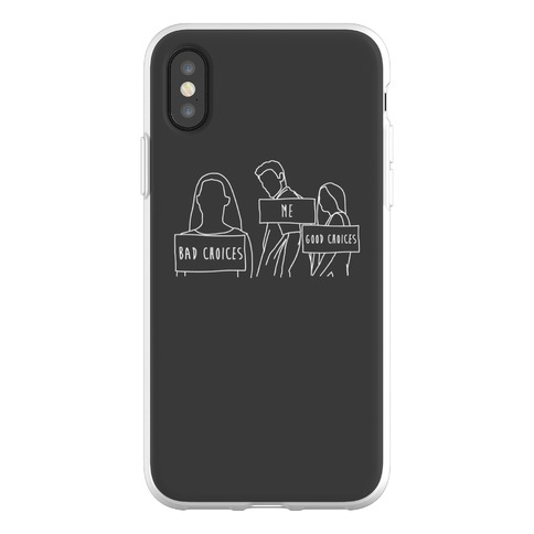 Me Vs Good and Bad Choices Meme Phone Flexi-Case