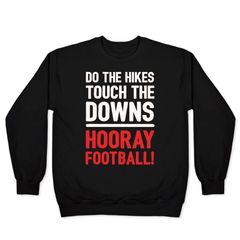Hooray Football White Print Pullover