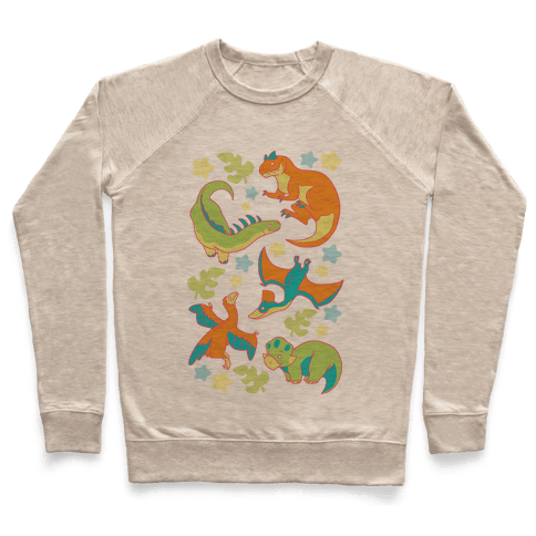 Funky Dinosaur Friends Pattern Pullover