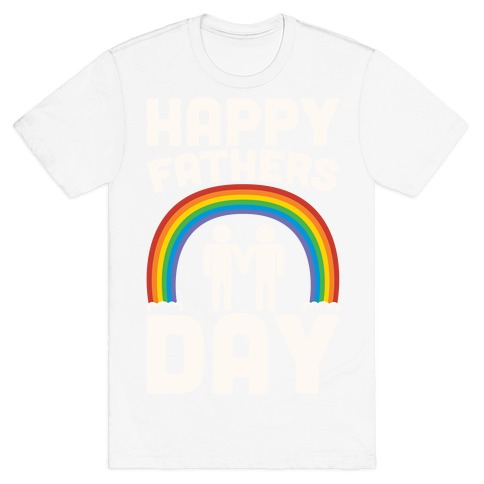 Happy Fathers Day White Print Mens/Unisex T-Shirt