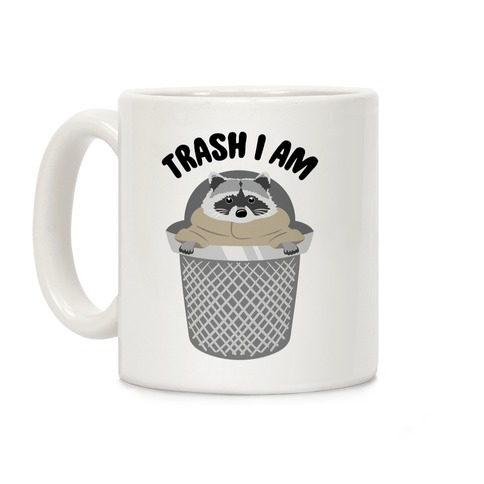 Trash I Am Raccoon Baby Yoda Parody Coffee Mug