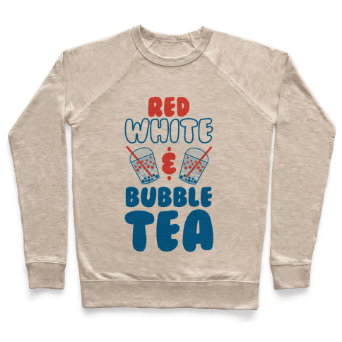Red, White and Bubble Tea Pullover
