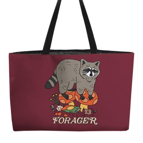 Forager Raccoon Weekender Tote