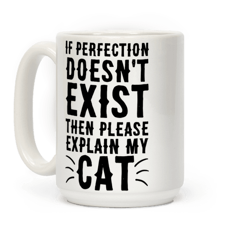 If Perfection Doesn't Exist Then Please Explain My Cat Coffee Mug
