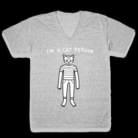 I'm A Cat Person V-Neck Tee Shirt