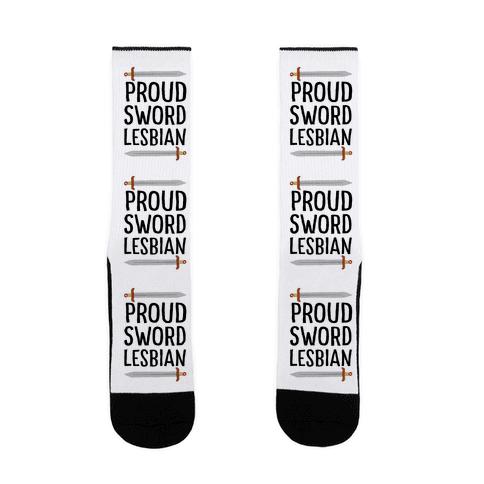 Proud Sword Lesbian Sock