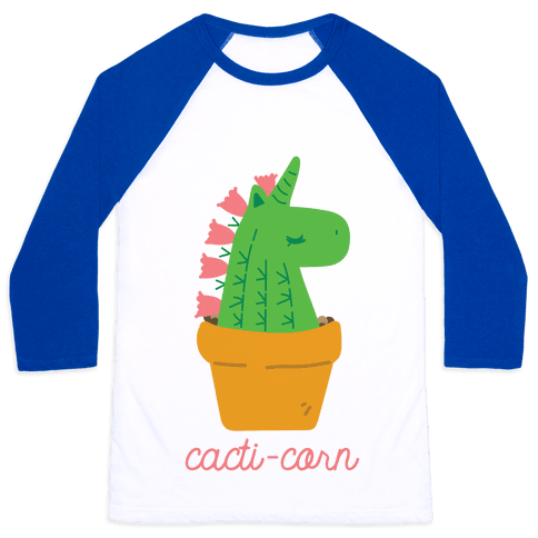 Cacti-corn Baseball Tee