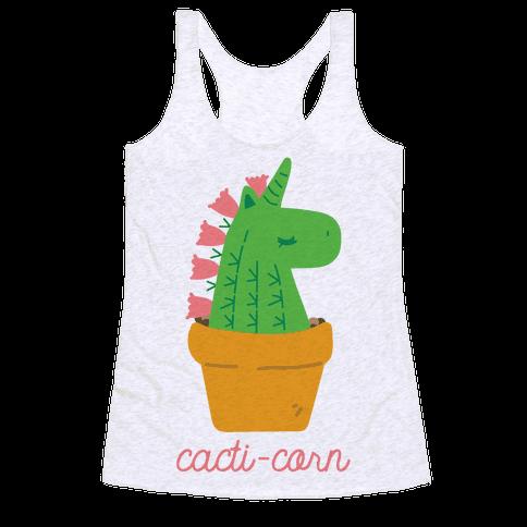 Cacti-corn Racerback Tank Top