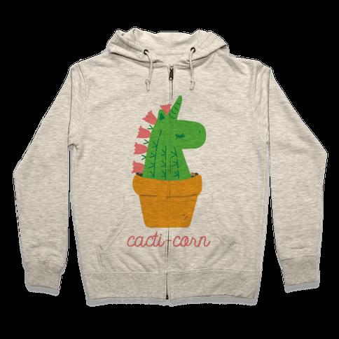 Cacti-corn Zip Hoodie