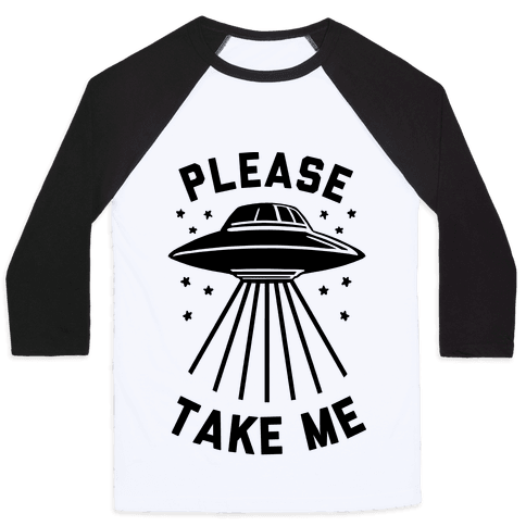 Please Take Me (cmyk) Baseball Tee