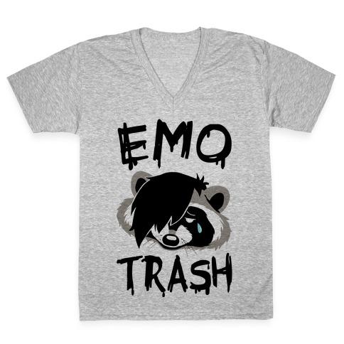 Emo Trash V-Neck Tee Shirt