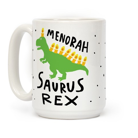 Menorah Saurus Rex Coffee Mug