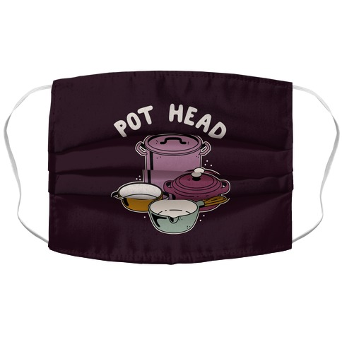 Pot Head Cooking Pots Accordion Face Mask