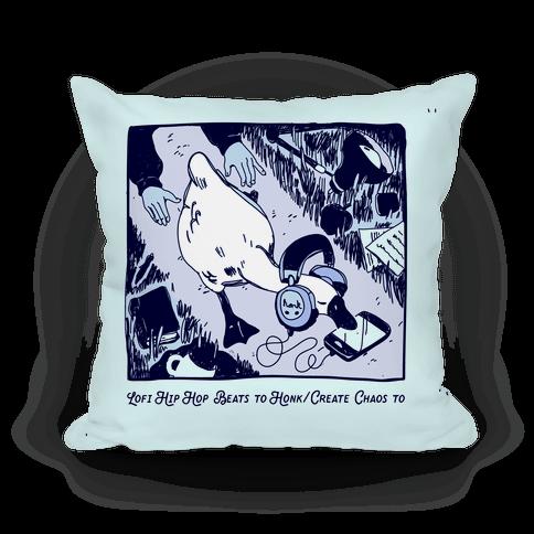 Lofi Hip Hop Goose Pillow