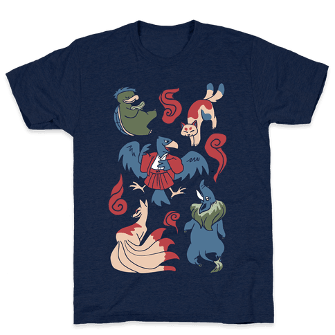 Yokai Guys Pattern  Mens T-Shirt