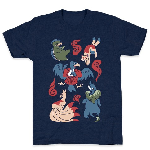 Yokai Guys Pattern T-Shirt