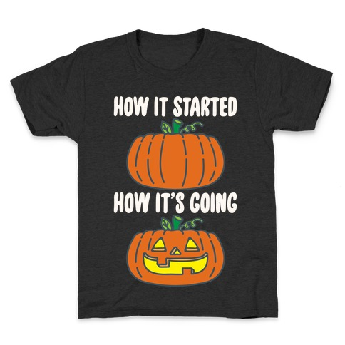 How It Started Jack O Lantern' Parody White Print Kids T-Shirt